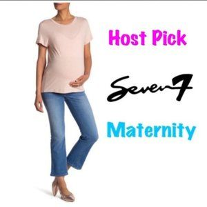 Seven7 Womens Maternity Flared Bootcut Jeans Sz 12